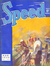 Speed magazine (BRDC) Vol 2 No.14 - August 1936 George Eyston Deaubille GP Spa