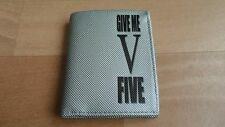 MENS - GIVE ME FIVE SILVER WALLET - NEW  - XMAS GIFT