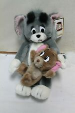 "1990 Hamilton Gifts Presents Tom & Jerry Plush 12"" Tall Vintage"