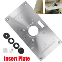 Aluminum Router Table Insert Plate + Rings For RT0700C Trimmer Woodworking Bench