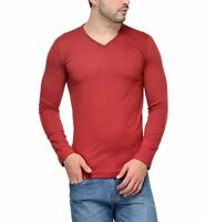 New Men Long Sleeve Cotton T-Shirts V-Neck Casual Slim Fit Men'S Fashion T-Shirt