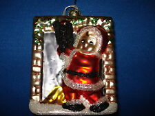 Glass Ornament Square with Child in Red 20694 89
