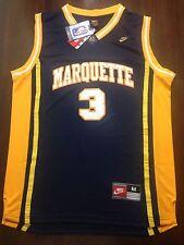 New Dwayne Wade Marquette College Jersey Size Men's Medium M Heat Bulls Rare CHI