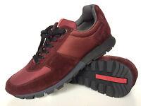 PRADA Sneaker  Schuhe Wildleder 40 Bordeaux , Prada Sneaker Leather 6,5 Maroon