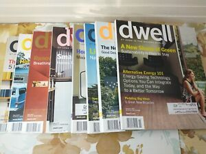 8 Dwell Magazine Back Issues Lot 2007 Incomplete Year Modern Home Decorating