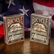2 Decks Bicycle US Presidents Standard Poker Playing Cards Brand New Decks BL+RD