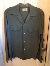 New listing Vintage 1940S Flap Pocket Rayon Shirt Size M