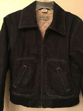 REPLAY Blue Jeans Bomber Jacket Denim Women's Size M 100% Cotton Made In ITALY