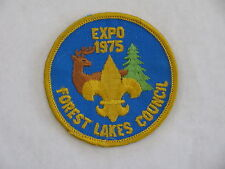 Forest Lakes Council (PA) 1975 Expo Pocket Patch  BSA