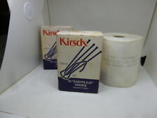 """New listing New 3""""Kirsch Pinch Pleat Drapery Curtain Hooks & 6 yds 3.5"""" Wide Pleating Tape"""
