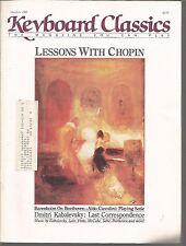 Keyboard Classics May June 1987 Dmitri Kabalevsky Last Correspondence/Lalo/Pinto