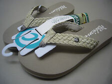 COBIAN WOMENS SANDALS BRAIDED BOUNCE CREAM SIZE 8