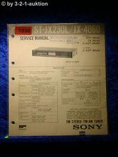 Sony Service Manual ST JX230L / JX 4060 Tuner  (#1896)