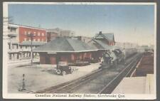 Postcard SHERBROOKE CANADA Railroad Depot/Station with Train 1920's