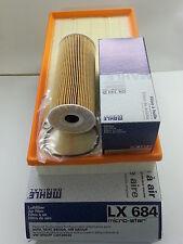 VW Beetle 1.9 TDi 1896cc Oil Air  Filter Service Kit Genuine Mahle 1998-2009