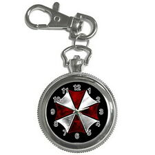 RESIDENT EVIL UMBRELLA Stainless steel Key Chain / Key Ring Watch for Gift New