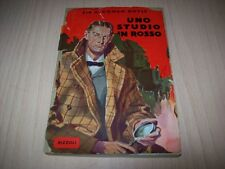 ARTHUR CONAN DOYLE-UNO STUDIO IN ROSSO-RIZZOLI-1952 IL PRIMO CON SHERLOCK HOLMES