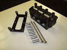4 cylinder kit for LS1 coil relocation bracket, powder coat black, 4 COILS ONLY!