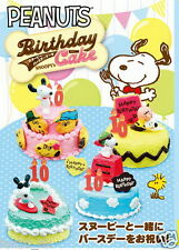 Japan Re-ment Miniature Peanuts Snoopy's Birthday Cake rement Full Set of 8