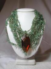 Jessye Norman Estate Necklace Aventurine Opera Singer Celebrity Jewelry