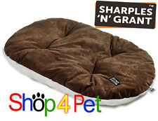 Do Not Disturb Luxury Oval Cushion, Brown with Plush 4 Small Dogs/Puppies & Cats