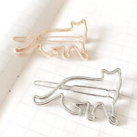 Women Silver Gold Cat Hair Clip Clamp Hairpin Fashion Jewelry Hair Accessories