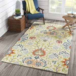 100% Wool Hand Tufted Loop Cut Contemporary Area Rug 8 x10 Any Room