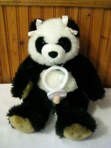 Build a Bear Workshop Panda Bear Girl Baby With Pacifier Plush Stuffed Animal