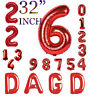 Number Letter Foil Balloons 32 inch Digit/Letter Ballons Birthday Party Decor UK