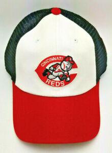 "Cincinnati Reds HAT ""OLD SCHOOL"" Adult Adjustable Mesh Back Hat"