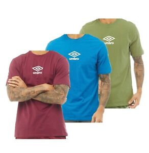 Mens Umbro Printed Cotton Casual Short Sleeve Jersey T Shirt Sizes from S to XXL