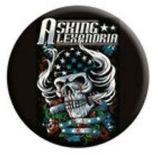 ASKING ALEXANDRIA Skullhair Button Badge Official Band Merch Merchandise