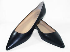 Shoes Woman's J Crew 'Everyday' Black ALL LEATHER Flats Size 11 NEW Pointed Toe