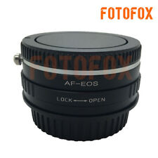 AF-EOS Sony Alpha Minolta AF Lens to Canon EOS EF Optical Adapter Infinity Glass