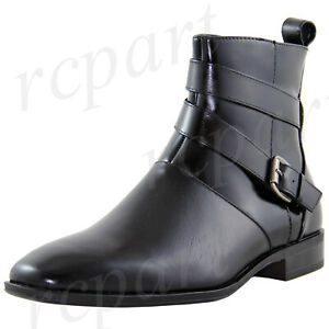 New men's shoes dress formal real leather boots lace wedding prom Black