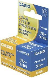 Casio TR-18BU Blue Disc Title Printer Ink Ribbon Cassette New F/S Japan