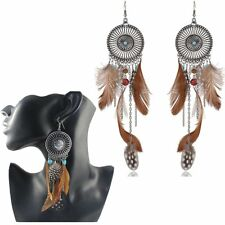 Fashion Women's Earrings Round Dreamcatcher Feather Wedding Gift Jewelry New Hot