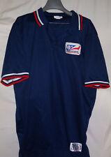 Vintage Texas League Aa Baseball Game Used Worn Umpire Ump Jersey Shirt Blue