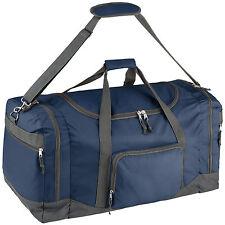 Bolsa de deporte bolso de viaje con correas de transporte equipaje 70x35x35 azul