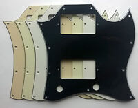 SG Full Face Pickguard to fit Standard PAF style humbuckers: various colours