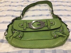 Guess Faux Leather Handbag Clutch Green