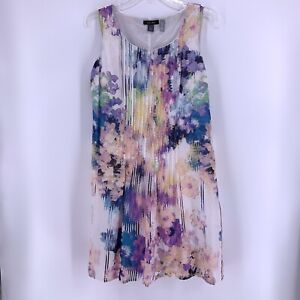 Ivy + Blue Pea In The Pod Maternity Cotton Dress S Watercolor Floral Lined
