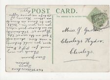 Mrs Jennie Garton Cleveleys Hydro Cleveleys 1905  317a