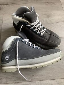Timberland Grey Leather Ladies Waterproof Boots Size UK 5M Preowned But Perfect.