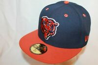 CHICAGO BEARS NFL NEW ERA 59FIFTY SIDELINE HAT CAP 2 TONE NAVY/ORANGE