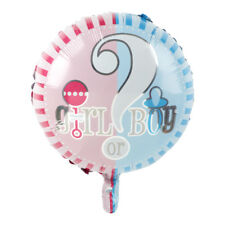 3Pc Baby Gender Reveal Boy or Girl Balloon Bouquet Party Shower Game He She?