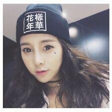 BTS Knitted Hip-Hop hat Warm Cap unisex KPOP Fashion Winter Cotton Beanie Hats