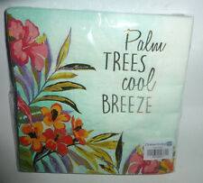 """NEW Package of 20 Palm Trees cool BREEZE Foil LUNCH Napkins 3-ply 13"""" x 13"""""""