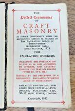 1955 PERFECT CEREMONIES OF CRAFT MASONRY MASONIC POCKET BOOK (51)
