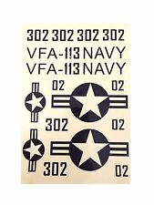 1 Set US Navy F-18 Aircraft Sticker Decorator for RC Airplane 039-00204-VFA113